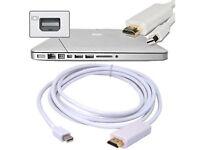 6ft Thunderbolt Mini DisplayPort DP to HDMI Adapter Cable Apple Mac Macbook L