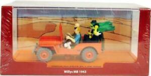 VOITURE TINTIN 1/43  LA JEEP WILLYS MB  1943 - AU PAYS DE L'OR NOIR - MOULINSART