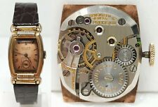 Orologio Gruen precision curvex 10K watch gold filled clock art deco anni 30