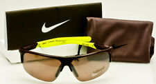 NIKE RUN X2 SPORT SUNGLASSES Deep Burgundy-Volt-Max Speed Tint S EV0801/607