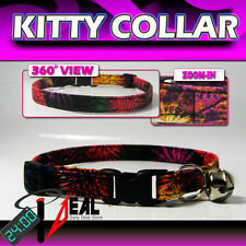 Breakaway SAFETY CAT Collar *  FireWork NIGHT *