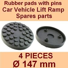 SET OF 4 PADS Ravaglioli 2 Post Car Lift Ramp Rubber Pads +3 pins - 147mm -Italy