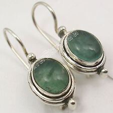 """OVAL Earrings !! 925 Solid Silver Hot Selling APATITE BEAUTIFUL Jewelry 1"""""""