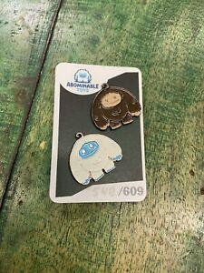 Abominable Toys Chomp Glow-in-the-Dark & Bigfoot  2 PIN SET