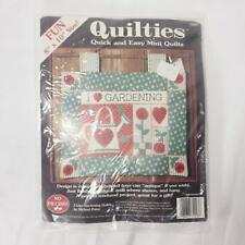 NEW I Love Gardening Quiltie Kit Michael Palan Mini Quilt Craft Garden USA NIP
