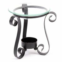Oil Burner is Made From Metal Finished in Black Paint & Come with a Glass Dish