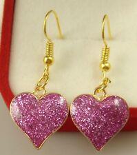 """925 Silver Plated Hook 2.6"""" love  Simple Drop Elegant Women Earring sp13es"""