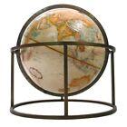 Replogle Vtg Mid Century Modern Brass Bronze Table World Celestial Globe McCobb