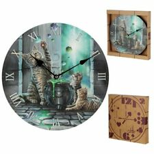 LISA PARKER HUBBLE BUBBLE CAT AND KITTEN PICTURE WALL CLOCK