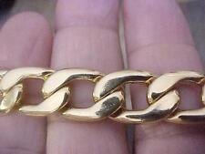 "Vintage Necklace  Men's Unisex Flat Chain Large Link Heavy 20"" 1/2 "" w Quality"