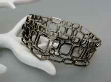 Vintage Modernist graphisches 835er Silber Armband bracelet 60er 70er Jahre 20cm