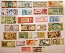 Junk Drawer Lot of 25 Foreign Banknotes World Paper Money Collections & Lots