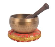 Bermoni Tibetan Hand Hammered Singing Bowl with matching Ethnic pouch - Z