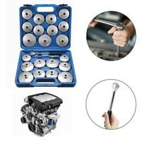 23Pcs Cap Type Oil Filter Wrench Set Automotive Removal Socket Tool Kit New