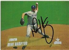 2000 Topps Stadium Club MIKE HAMPTON Signed Card autograph astros braves