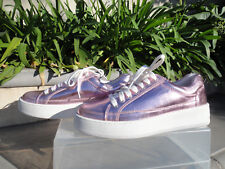 Free People LETTERMAN SNEAKER Sneaks Pink Metallic Leather, Wmns' EU38 US8M