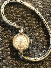 Vintage estate ca 1960's Omega 14 Kt Gold Ladies Watch  Working