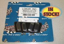 Lokar 64-68 Mustang Brake Pedal with Rubber Inserts Black - XBAG-6123