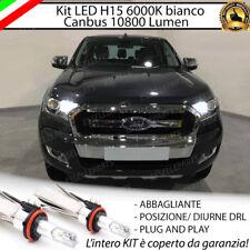 KIT LED H15 CANBUS LUCI DIURNE  + ABBAGLIANTI 6000K FORD RANGER 10800 LUMEN