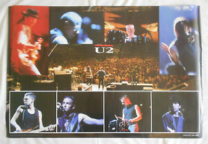 "U2 SCARCE ATHENA ORGINAL 32 YEAR OLD 23½"" x 35"" LARGE POSTER 1988 OLD SHOP STOCK"