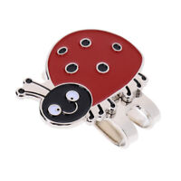 Portable Alloy Cartoon Ladybird Golf Ball Marker with Magnetic Golf Hat Clip