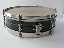 "Vintage 30s Leedy Reliance Brass 4x14"" Snare Drum - Black Lacquer & Nickel 6 Lug"