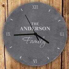 Personalised Family Slate Clock Keepsake Ornament Gift