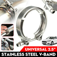 2.5'' Inch 63mm V Band Set Heavy Duty Clamp Flange Set Stainless Exhaust  !