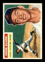 1956 Topps #140 Herb Score EXMT+ RC Rookie Indians Grey Backs 401579