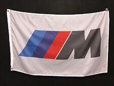 BMW M White Flag Sign Banner - m3 m5 alpina dinan harte bbs E30 E36 M6 E46 DTM