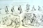 Old WAY'S & NEW WAY'S No 1 HENRY HEATH CARICATURE PRINT 1840 Victorian