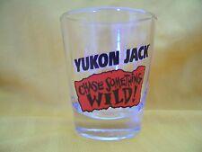 """Yukon Jack """"Chase Something Wild"""" Shot Glass 2 1/4"""" - EUC"""