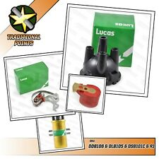 Lucas Genuine 25D replacement cap, points, condenser, sports coil and red rotor