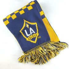 LA Galaxy Adidas Soccer Scarf White Navy Blue & Gold Reversible MLS