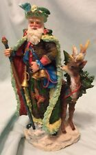 Galleria Lucchese Legendary Santas 1997 - Santa With Staff & Reindeer British