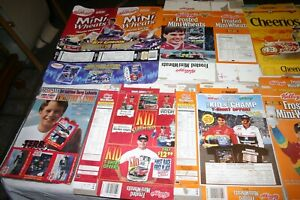 Lot of NASCAR Ephemera: Collectible Empty Cereal Boxes