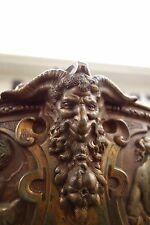 19C Bronze Monumental Mythological Masterpiece Horned Satyr/Demon/Devil/Gargoyle