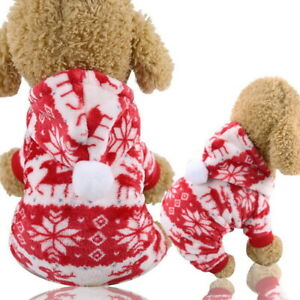 Christmas Dress Xmas Red Small Pet Dog Clothes T-Shirt Puppy Cat Apparel Vest