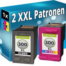 2x REFILL DRUCKER PATRONEN für HP 300 XL F2492 F2493 F4200 F4210 F4213 F4224