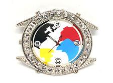 Reloj de trabajo Correa Hebilla Cinturón De Snap Ajuste Bling mapa del mundo