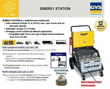 GYS Self Contained Anlasser + Ladegerät Energie Station 12V 24V Automat 35-