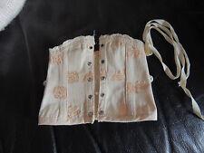 Superbe corset de poupée ancienne Jumeau, steiner taille 9