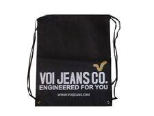 Homme Voi gym sac de mode avec logo voi sur devant-Noir