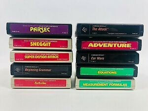 Texas Instruments Home Computer Command Module games LOT OF CARTRIDGES 10