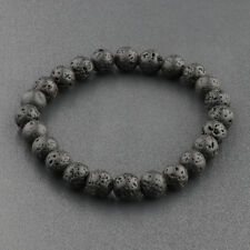 8mm Beads Natural Aromatherapy Lava Stone Healing Bracelet For Men Women Jewelry