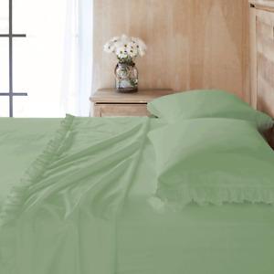 Ruffle Edge 6 pc Sheet Set 800 TC Egyptian cotton ALL SIZE & COLOR