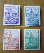 EBS Germany 1946 Soviet Zone - West Saxony - Leipzig Fair 162BX-165BX MNH**