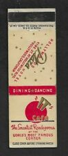 "Matchbook Cover Hollywood CA ""IT"" Club The Smartest Rendezvous  *3223"