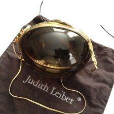 Judith Leiber Vintage 60's-70's Lucite Egg Purse with Brass Hardware/Chain strap