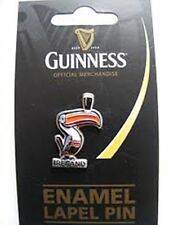 Guinness Lapel Pin With Toucan & Guinness Pint